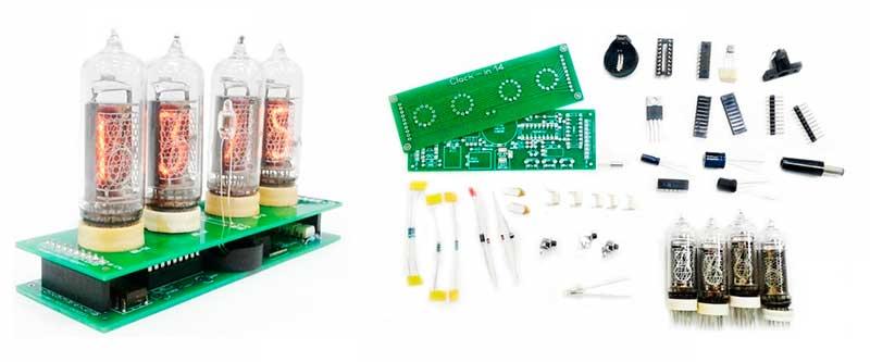 Набор для сборки часов на газоразрядных индикаторных лампах ИН-14