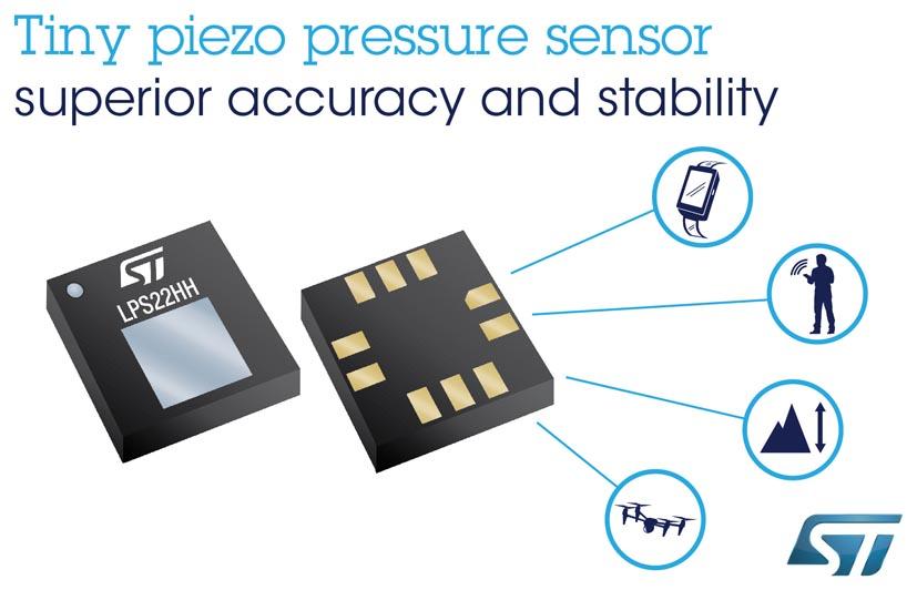 Новый прецизионный МЭМС датчик давления STMicroelectronics не нуждается в калибровке после монтажа на плату