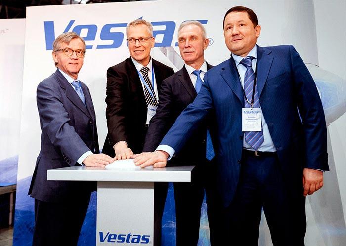 СП Vestas и РОСНАНО запустило основное оборудование по производству лопастей для ветроустановок