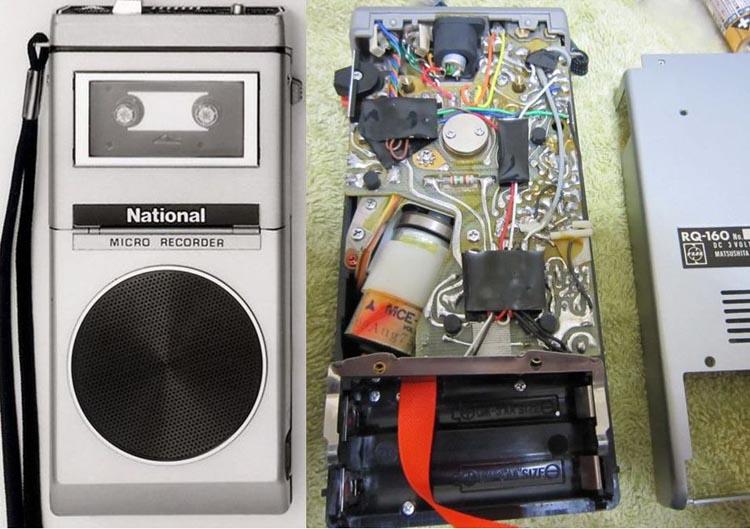 Микрокассетный магнитофон National RQ-160.