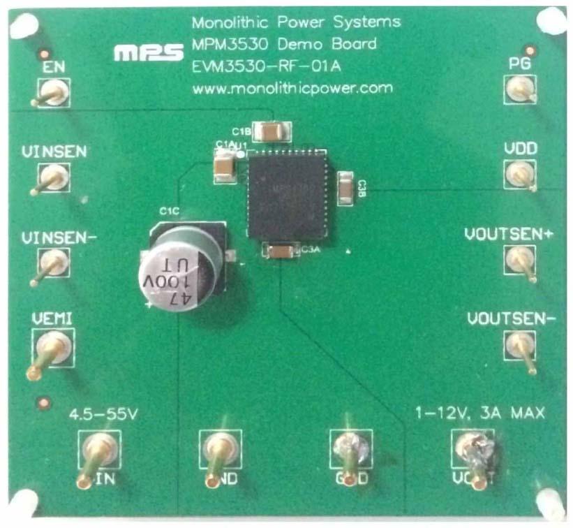 EVM3530-RF-01A - 55 V 3 A Step-Down Power Module Demo Board
