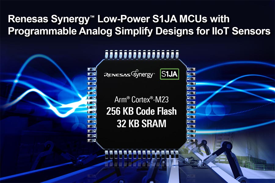 New Renesas Synergy Low-Power S1JA Microcontrollers