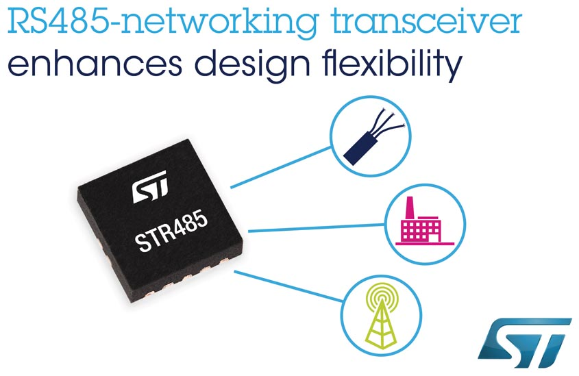 Superior Flexibility RS-485-Networking Transceiver STMicroelectronics Simplifies