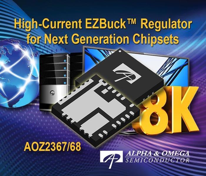 Alpha and Omega Semiconductor расширила семейство EZBuck сильноточными DC/DC регуляторами