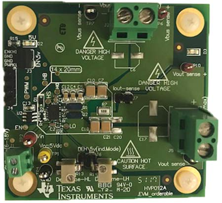 Внешний вид отладочной платы LMG1210EVM-012 от Texas Instruments