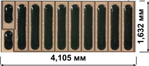 Внешний вид нитрид-галлиевого транзистора EPC2001 от компании EPC