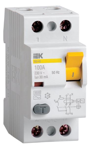 Устройство защитного отключения ВД1-63 IEK