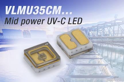 New Vishay Intertechnology Mid-Power Ultraviolet Emitting