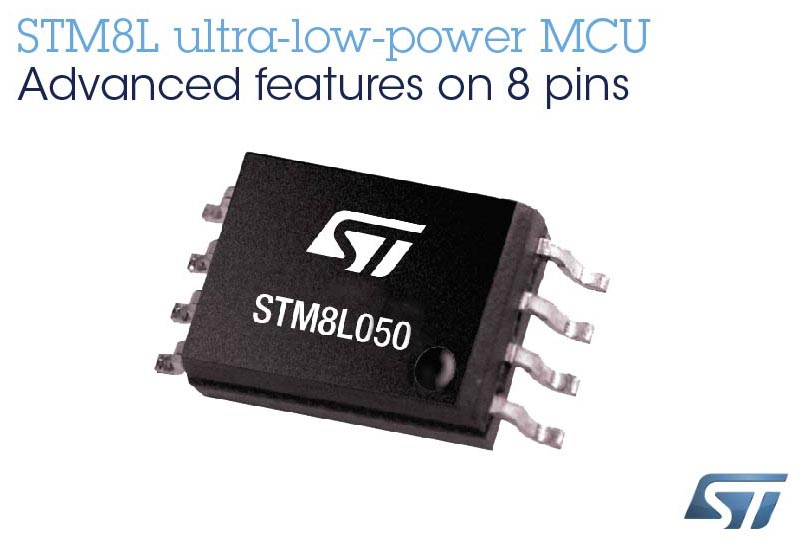 STMicroelectronics STM8L050 Extends Choice Freedom 8-bit