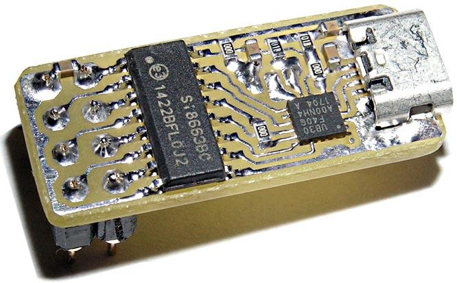 Преобразователь на базе UB30 и SI8663-DIP (разводка Рисунок 9а).