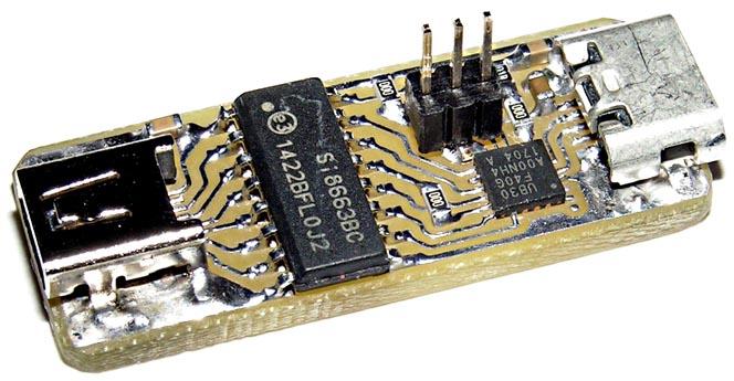 Преобразователь на базе UB30 и SI8663-планар (разводка Рисунок 9б).