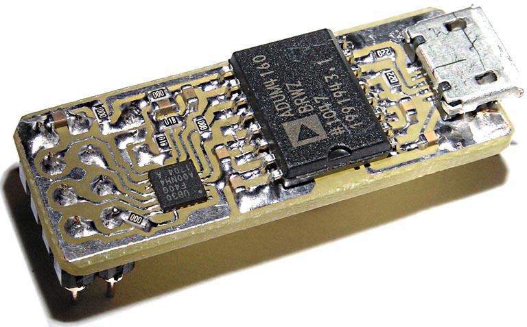 Преобразователь на базе UB30 и ADuM4160 (разводка Рисунок 9в).