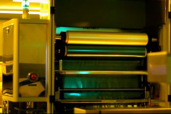 Roll with light-curing foil
