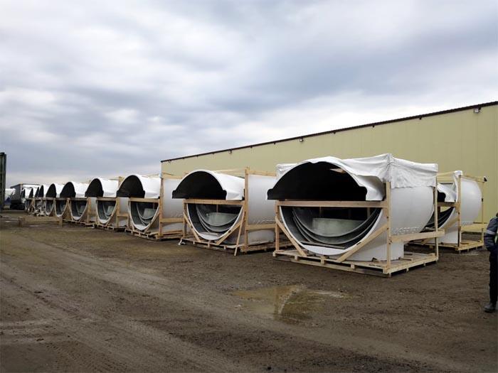 UMATEX поставил 60 комплектов кожухов гондол для ветропарка в Адыгее