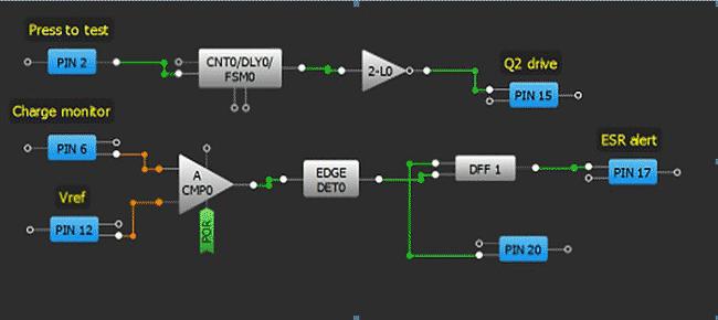 Проект конфигурации GreenPAK в схеме измерения ESR