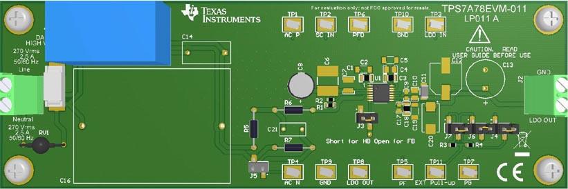 Оценочный модуль TPS7A78EVM-011