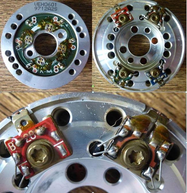Расположение видео и звуковых Hi-Fi головок БВГ VEH0601.