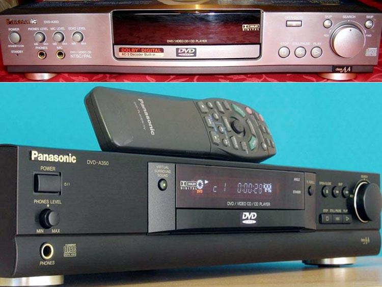 DVD проигрыватели DVD-A300 (сверху) и DVD-350.