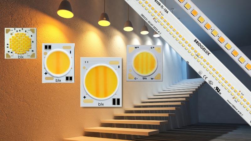 Bridgelux втрое увеличивает семейство белых светодиодов Vesta Series с регулируемым цветом свечения