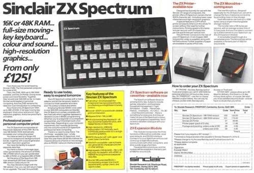 Реклама «Спектрума» в британском журнале