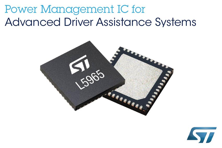 STMicroelectronics Programmable Power-Management Device Saves Space