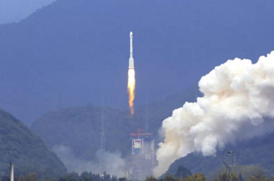 Старт ракеты CZ-3B/YZ-1 со спутником BeiDou.