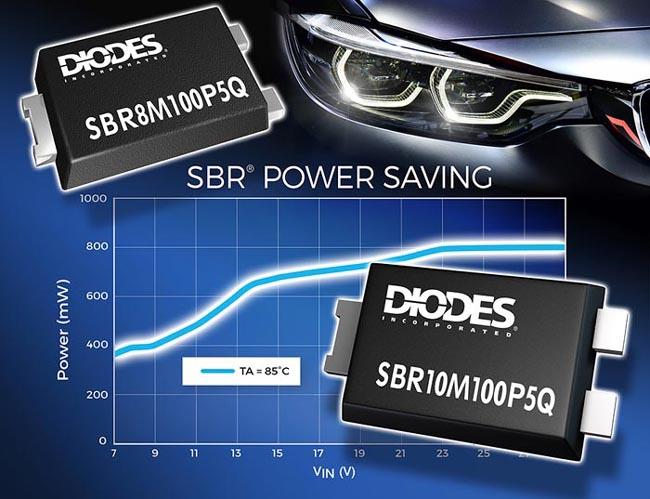 Новые SBR диоды Diodes повысят КПД и надежность автомобильных световых приборов