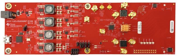 ADC12DJ5200RFEVM ADC12DJ5200RF 12-bit, dual 5.2-GSPS or single 10.4-GSPS, RF-sampling ADC evaluation board (without heat sink)