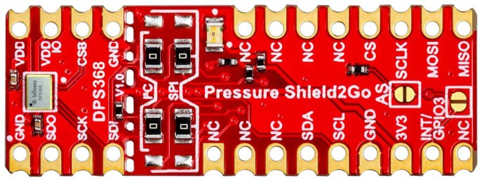 Arduino shield with XENSIV DPS368 sensor