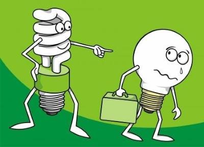 Что случилось компактными люминесцентными лампами