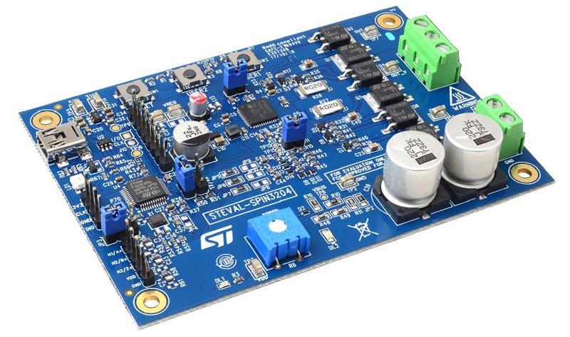 Оценочная плата шестиступенчатого драйвера бесщеточного двигателя для приложений, основанных на контроллере STSPIN32F0B