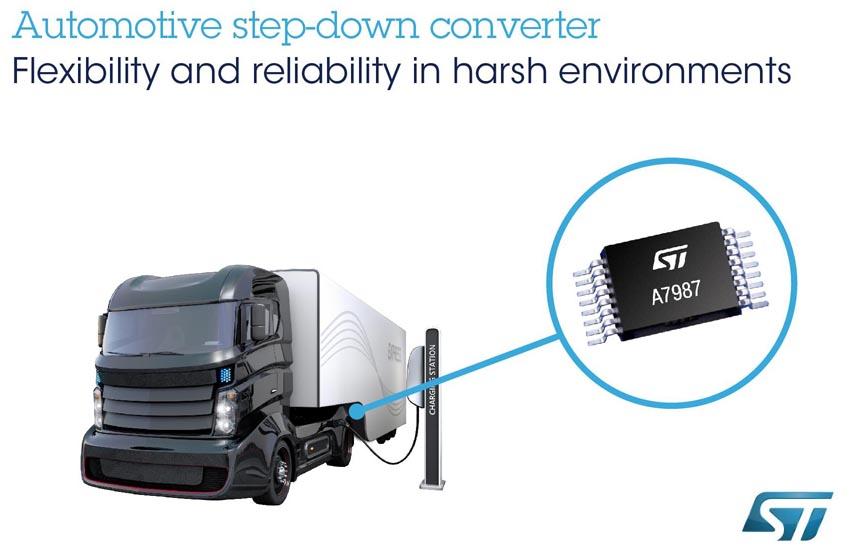 Новый импульсный регулятор STMicroelectronics повысит надежность автомобильных приложений