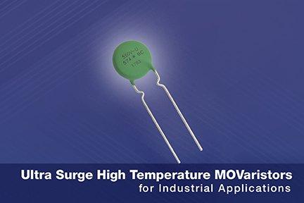 Новые высокотемпературные варисторы Vishay выдерживают импульсные токи до 13 кА