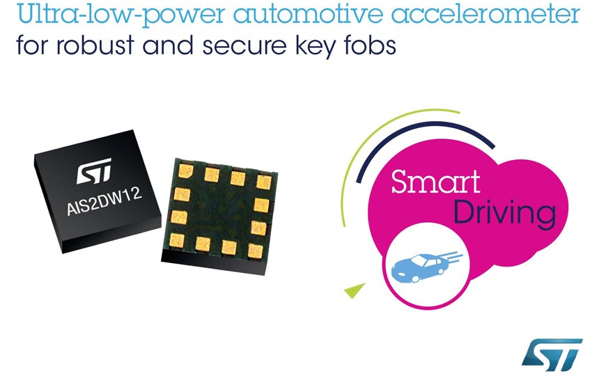 Robust Low-Power Automotive Accelerometer STMicroelectronics Adds