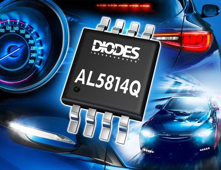 Diodes Incorporated Automotive-Compliant Linear LED Driver-Controller