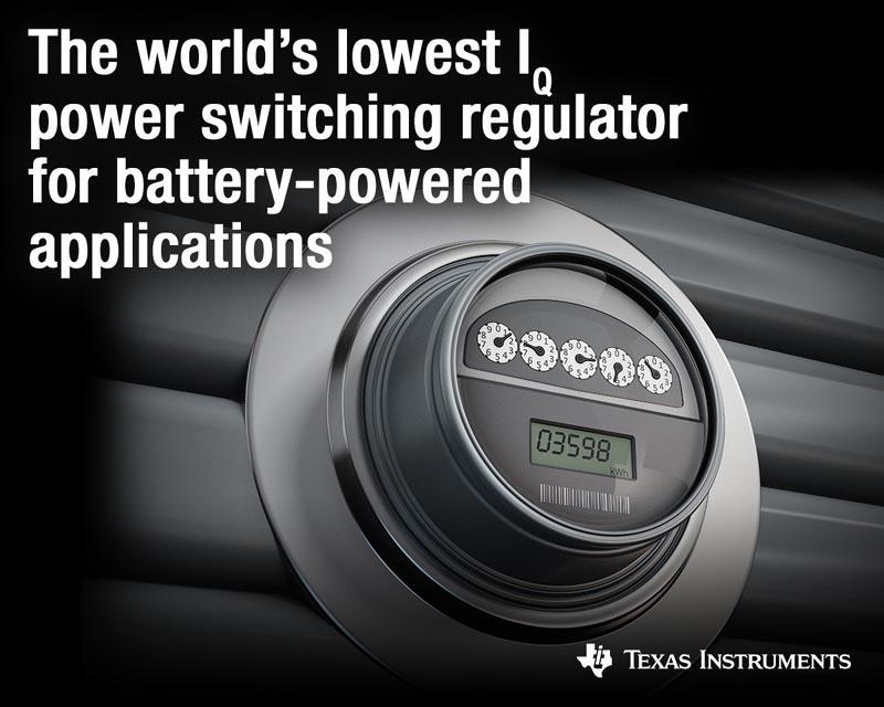 Новые импульсные регуляторы Texas Instruments с самым низким в отрасли током потребления увеличат время автономной работы устройств Интернета вещей с батарейным питанием