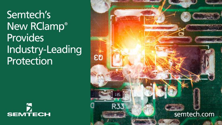 Новая сборка TVS диодов корпорации Semtech обеспечит лучшую в отрасли защиту интерфейсов LVDS, Ethernet и USB 3.x