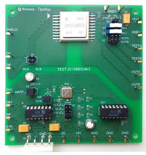 НПО «Физика» выпускает отладочную плату для микросборки ARINC-429 2015ВВ024