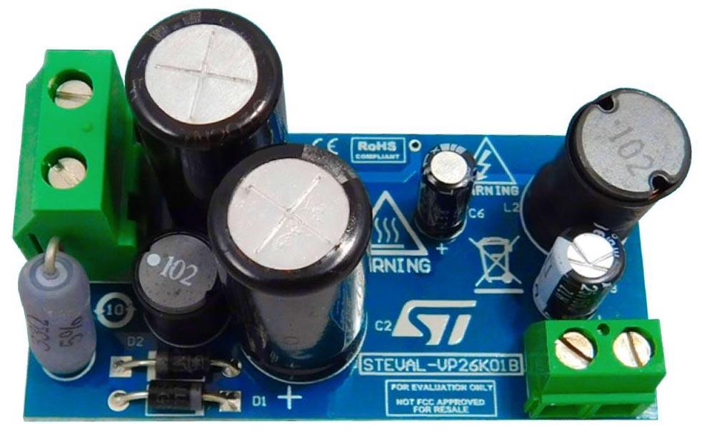 STEVAL-VP26K01B - 15 V/100 mA high voltage buck converter reference design based on VIPER26K