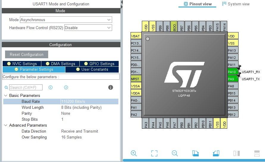 Применение фильтра Калмана на примере STM32F103C8