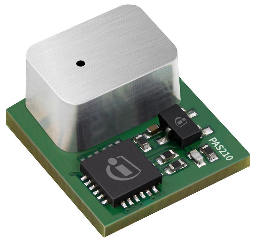 Infineon создала новый миниатюрный фотоакустический датчик CO<sub>2</sub> XENSIV PAS210