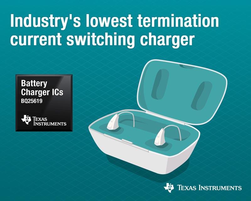 Texas Instruments выпускает новую микросхему зарядного устройства аккумуляторов с самым низким в отрасли током завершения заряда