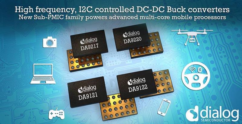 Dialog Semiconductor выпускает серию высокочастотных микросхем управления питанием процессоров мобильных устройств