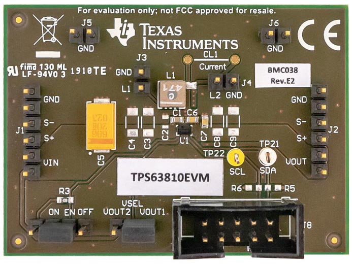 The TPS63810EVM Evaluation Module