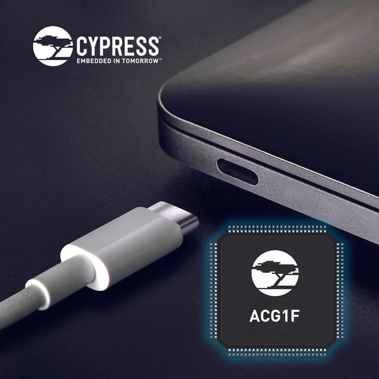 Cypress Introduces USB-C Controller High-Volume Segments