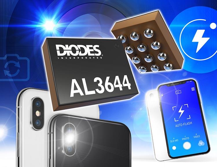 Diodes анонсирует драйвер светодиодного фонаря для двух- и четырехканальных портативных приложений