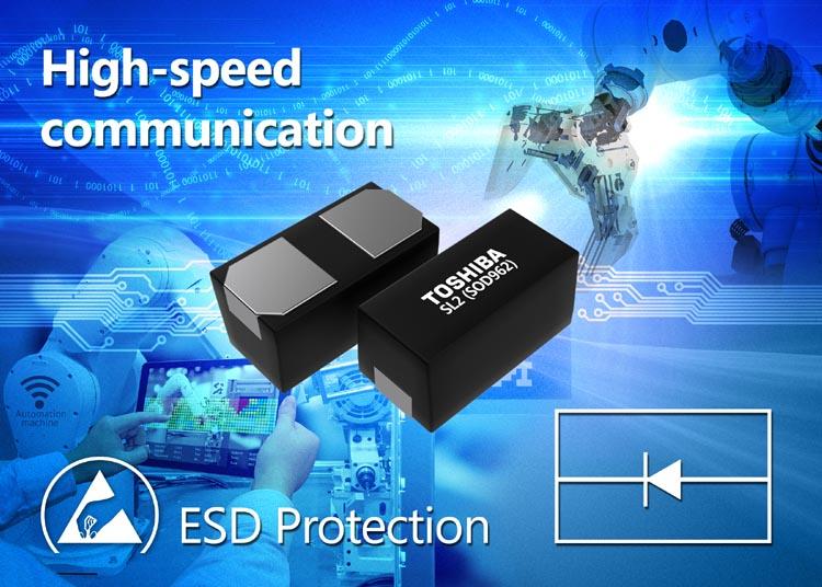 Toshiba выпускает TVS диоды с низкой емкостью для защиты высокоскоростных линий связи