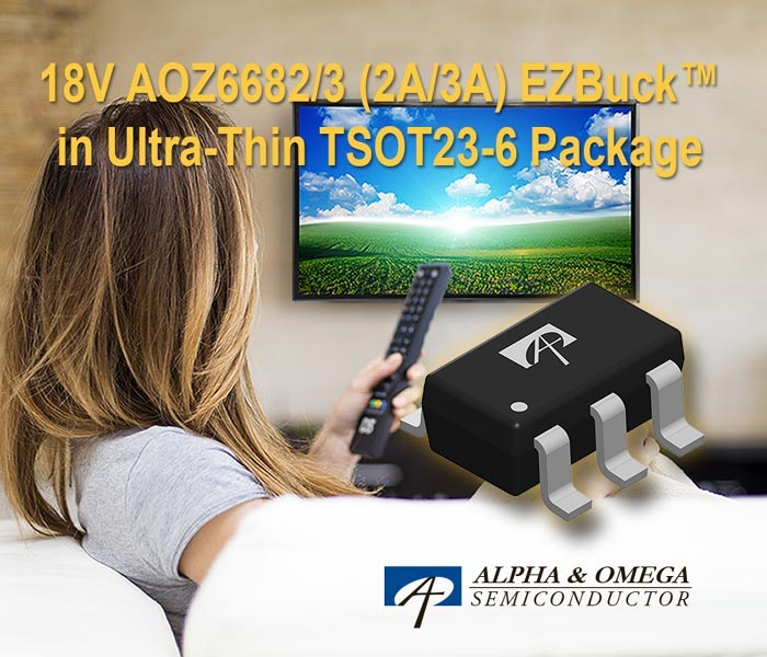 Alpha Omega Semiconductor Introduces 18V 2A