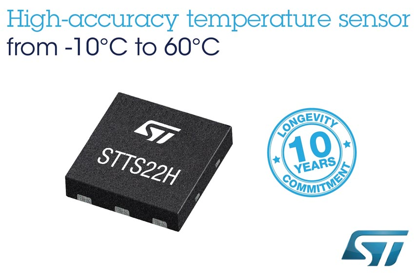 Temperature Sensor Accurate 0.25 deg STMicroelectronics
