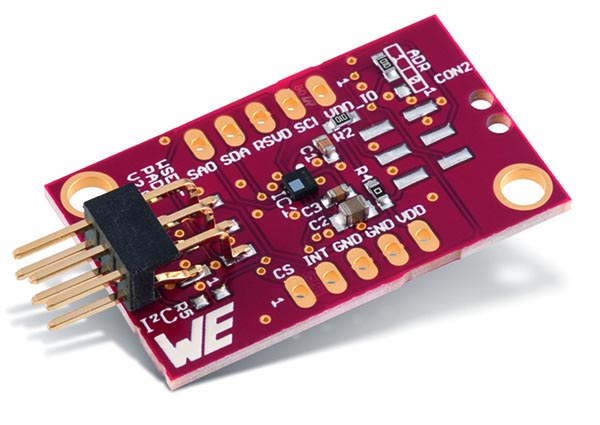The Evaluation Board for WSEN-PADS Pressure Sensor